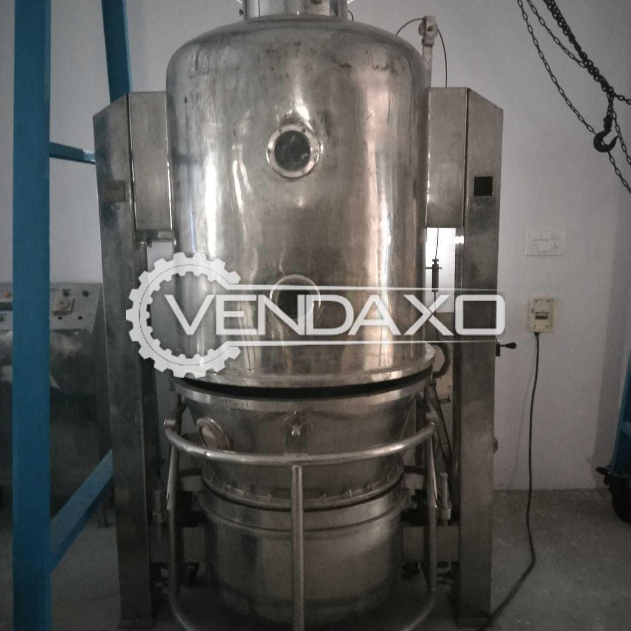 Fluid Bed Dryer (FBD) - 70 Kg, GMP Model