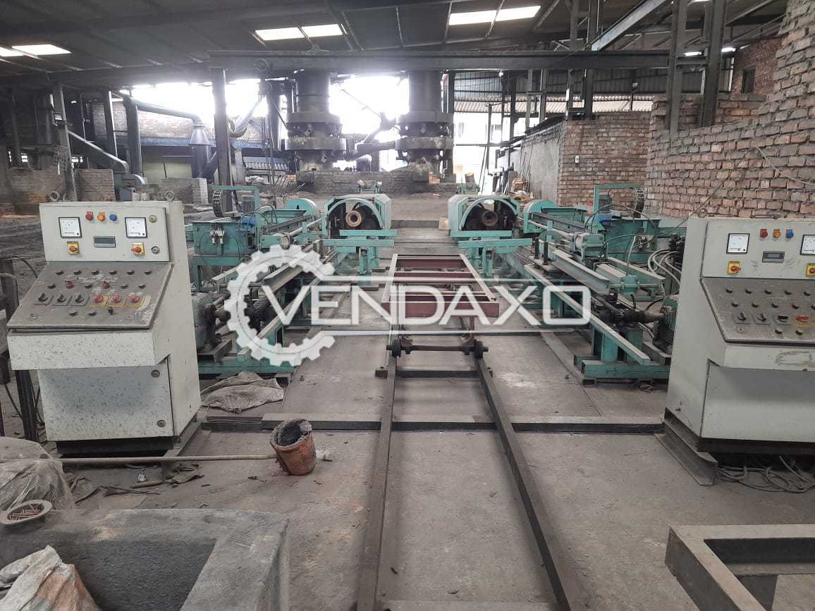 2 Set of Scnaia Industries Centrifugal Casting Pipe Plant - Single Mould, With All Accessory