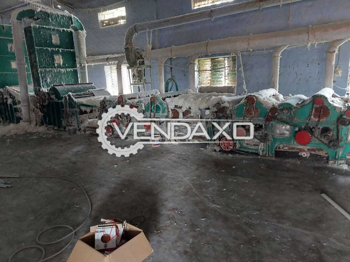Venkateswara Carding Machine for Textile FIB Recycle Machine With Accessory - 2018 Model