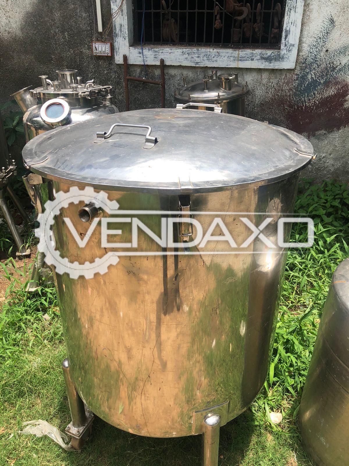 SS 316 Storage Tank - 500 Liter, GMP Model