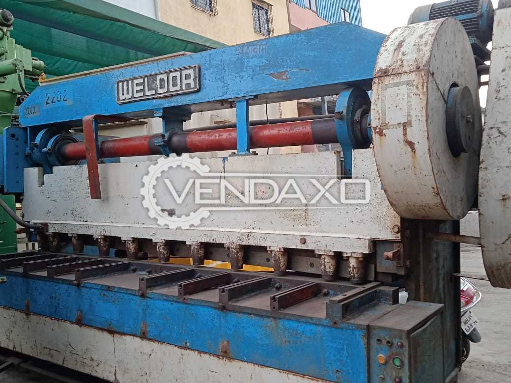 Weldor Mechanical Shearing Machine - 2.5 Meter x 6 mm