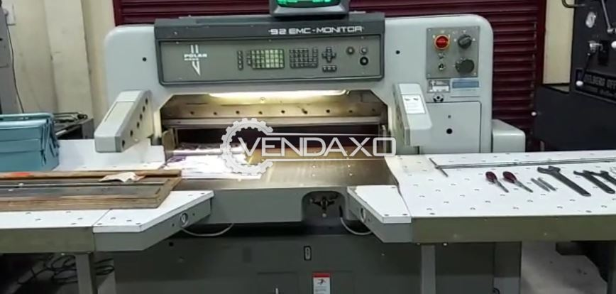 Polar Mohr 92 EMC-Monitor Paper Cutting Machine - 36 Inch, 1988 Model