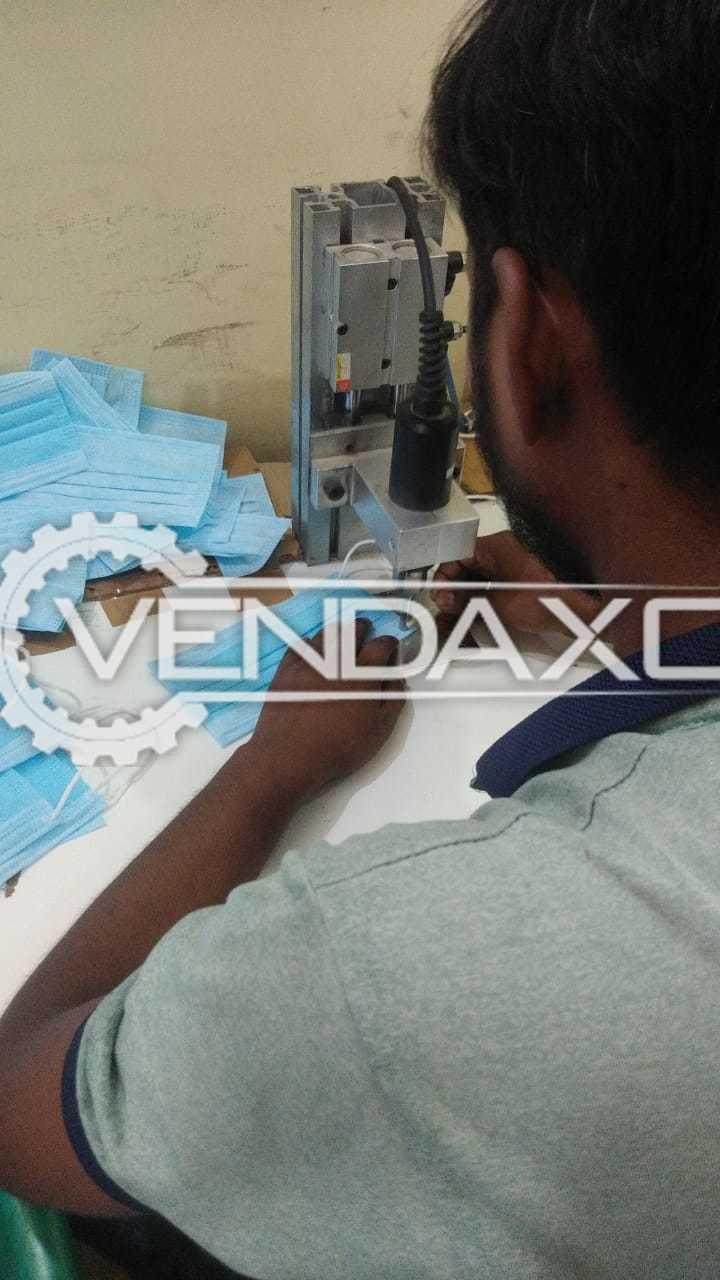 Surgical Mask Blank, Ultrasonic Punching, Elastic Cutting Machine - 2020 Model