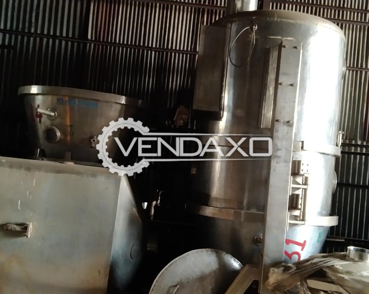 Fluid Bed Dryer (FBD) - 200 KG, GMP Model