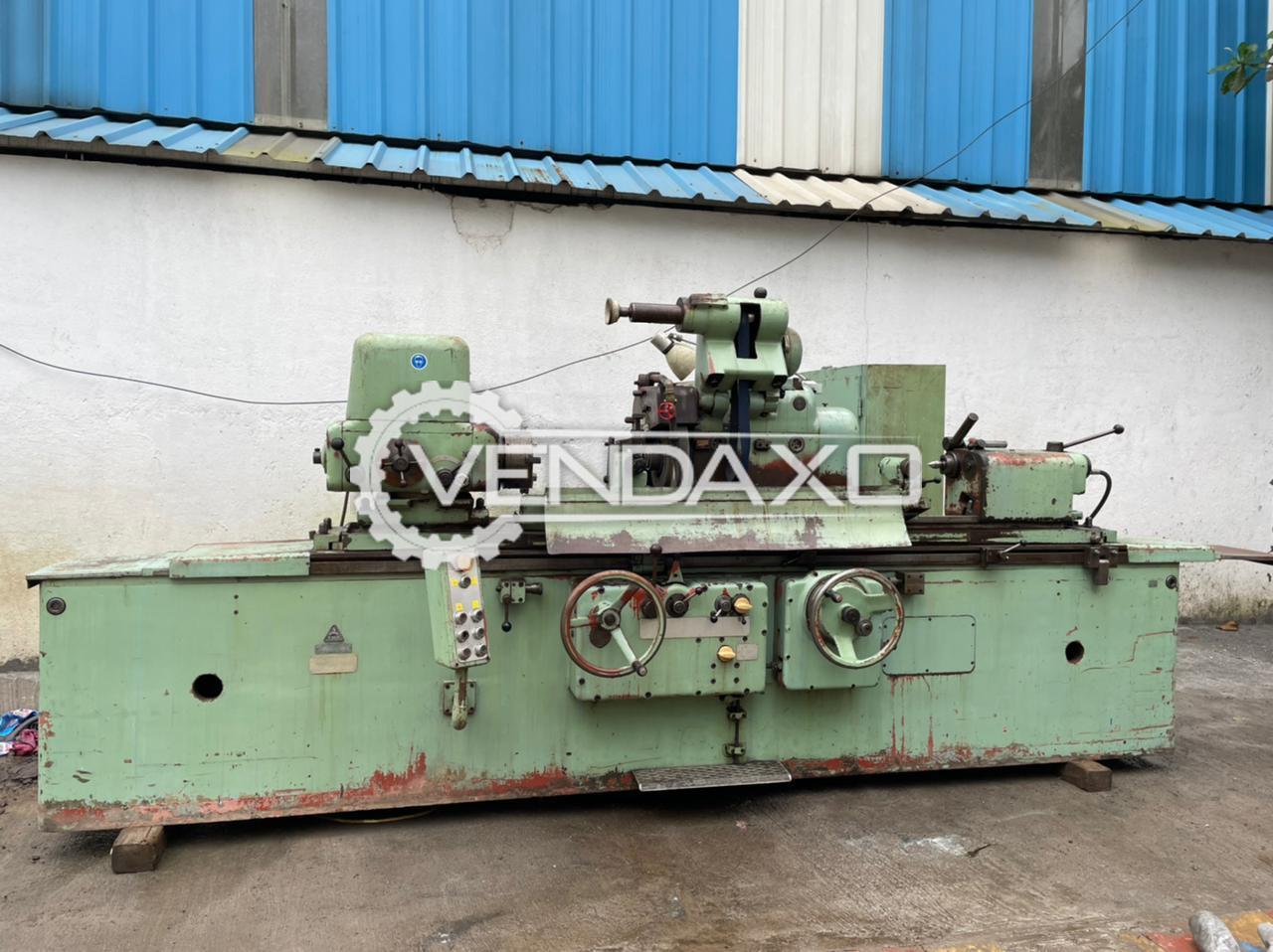 TOS BHU 40/1500 Cylindrical Grinding Machine - Admit Between Center - 1500 mm