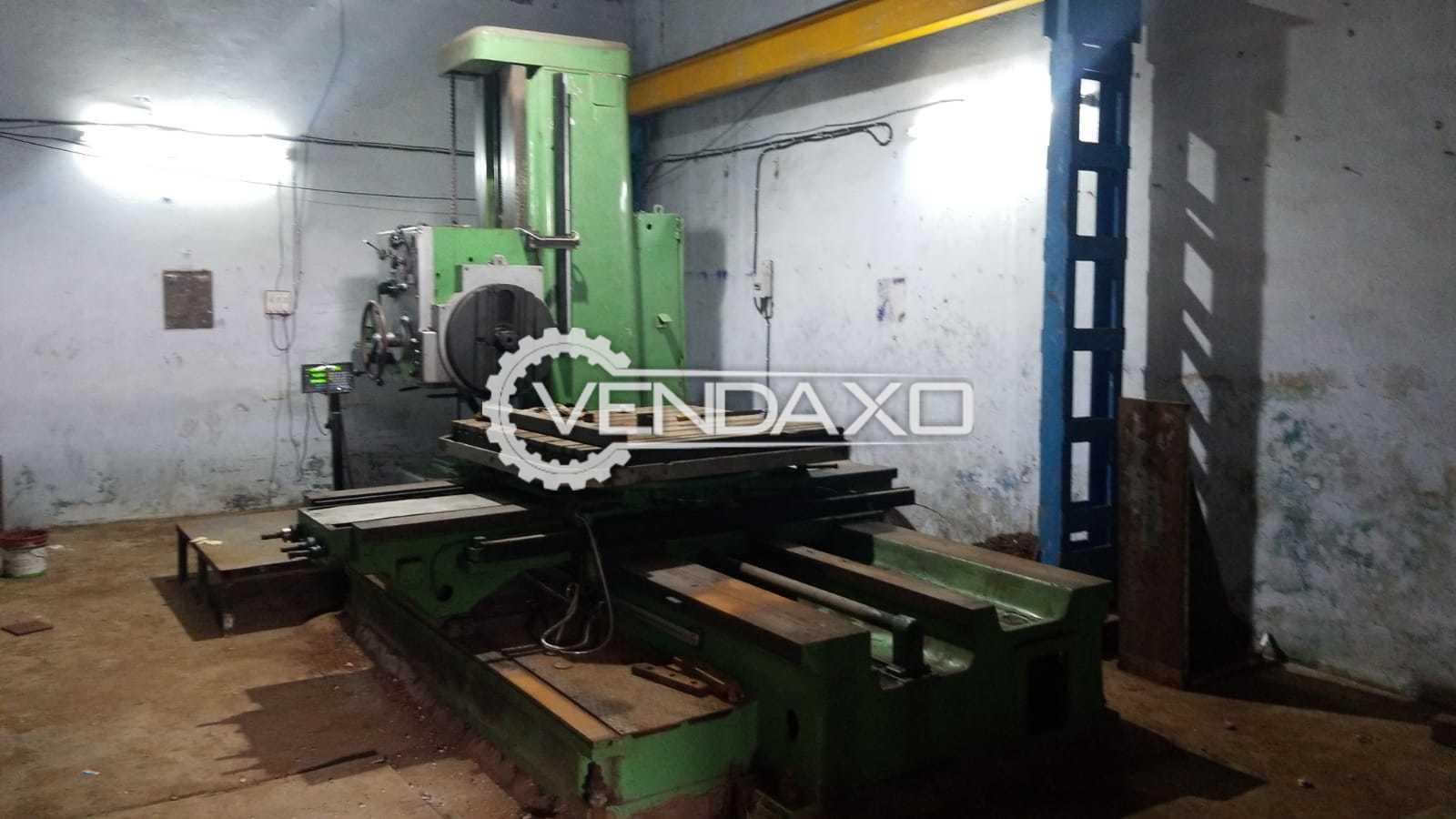 TOS W100 Horizontal Boring Machine - Table Size - 1250 x 1250 mm