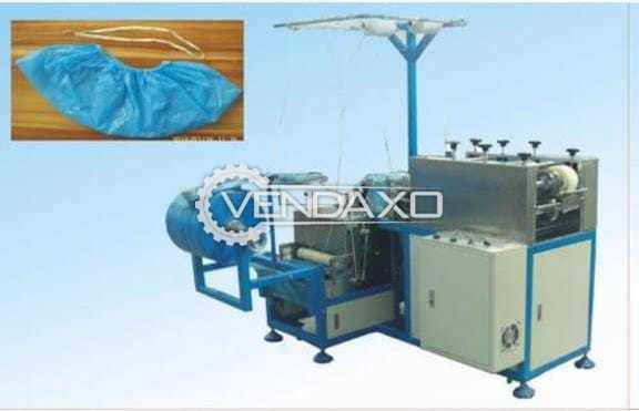 Non Woven Disposable Plastic Shoe Cover Making Machine - 80 to 120 Shoe Cover Per Minute