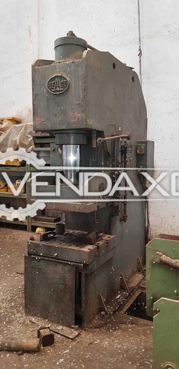 Bemco C Frame Hydraulic Power Press - 100 Ton