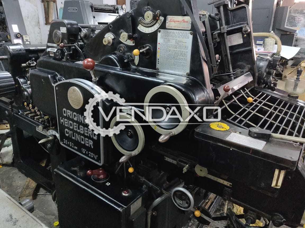 Heidelberg Cylinder Die Cutter Machine - 15 x 20 Inch