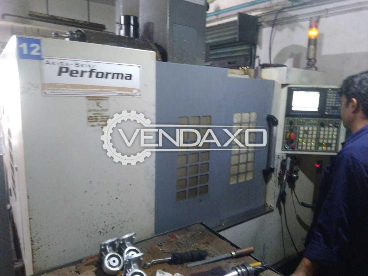 Akira Seiki Performa CNC Vertical Machining Center VMC - Table Size - 1000 X 500 mm