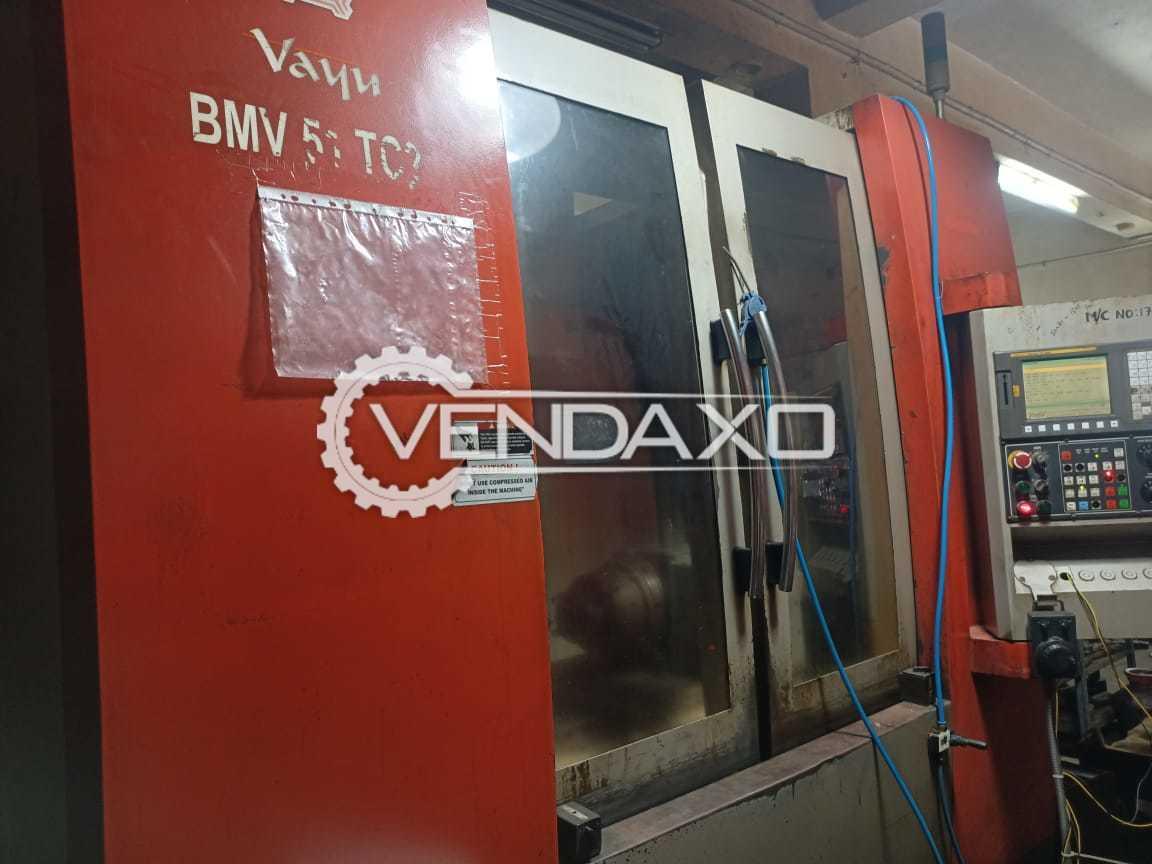 BFW Vayu BMV 51 TC CNC Vertical Machining Center VMC - 1000 x 500 x 500 mm