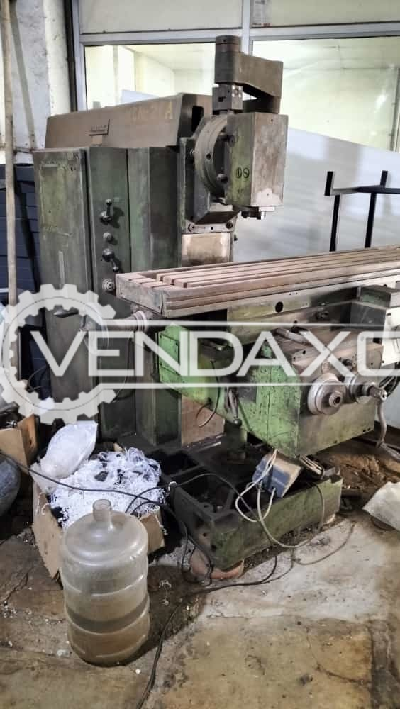 HMT FN2 Milling Machines - Table Size - 1200 x 300 mm