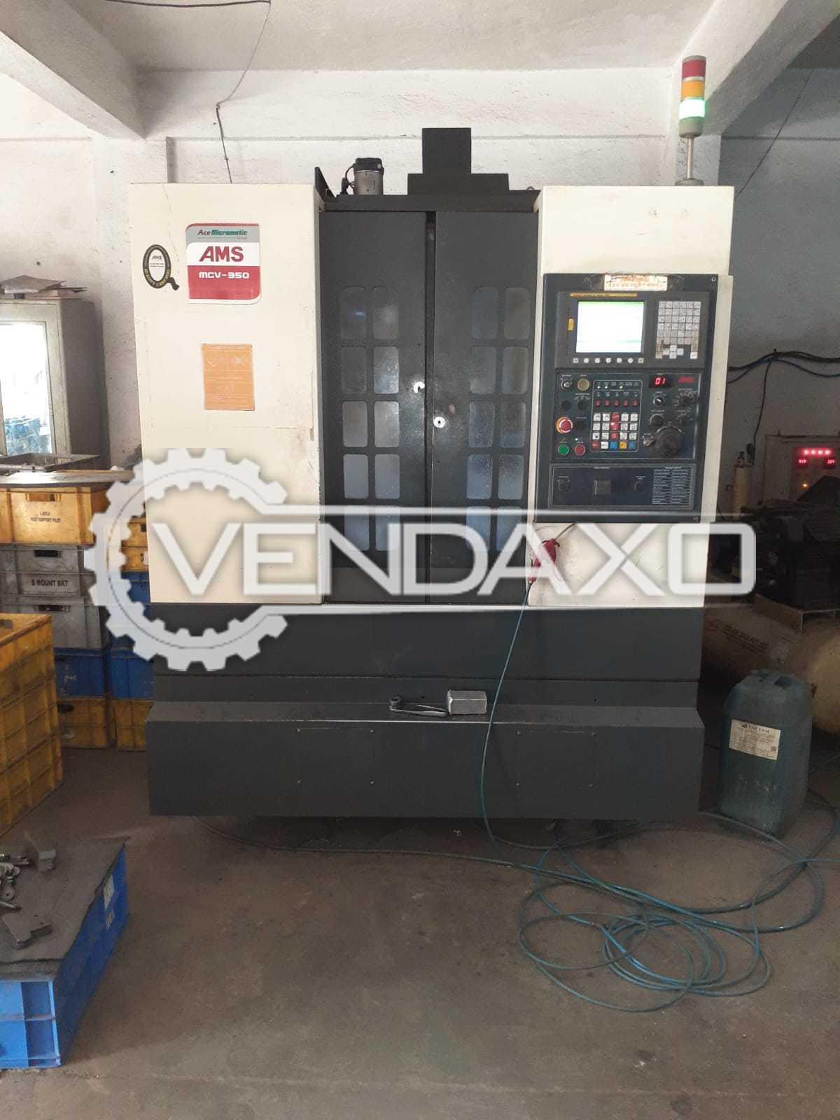 AMS MCV-350 CNC Vertical Machining Center VMC - Table Size - 650 x 350 mm