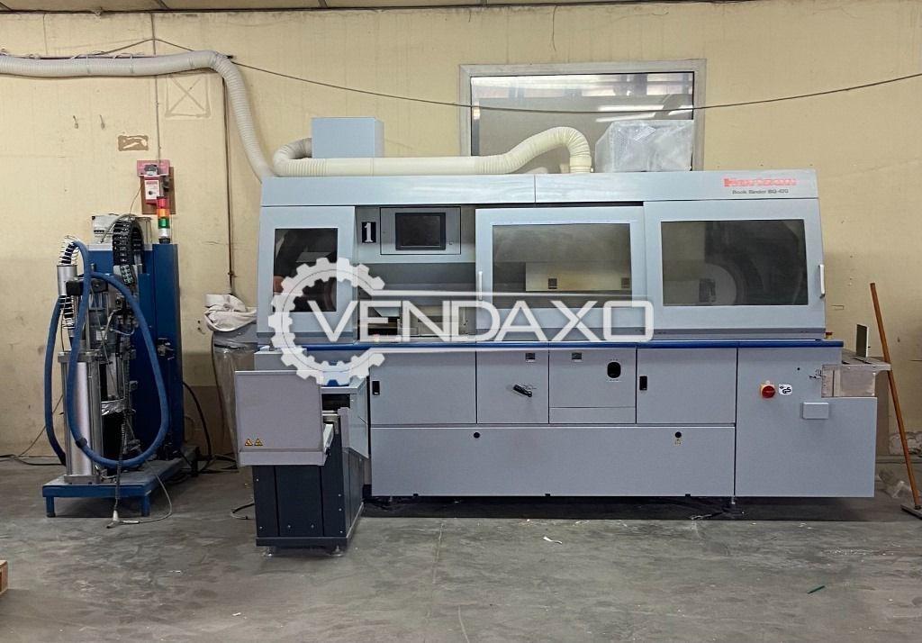 Horizon BQ-470D PUR Nordson Fully Automatic Perfect Binder Machine - 4 Clamp