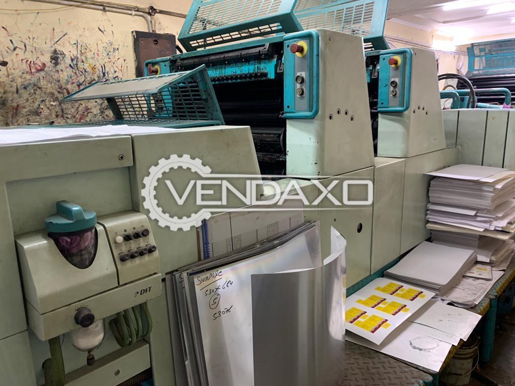 Polly 266 AH Offset Printing Machine - 19 X 26 Inch, 2 Color