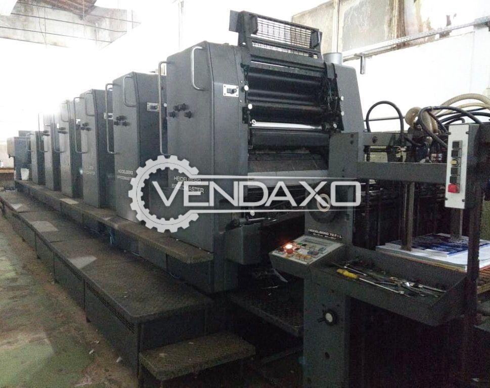 Heidelberg SM 72 F+L Offset Printing Machine - 20 x 28 Inch, 5 Color
