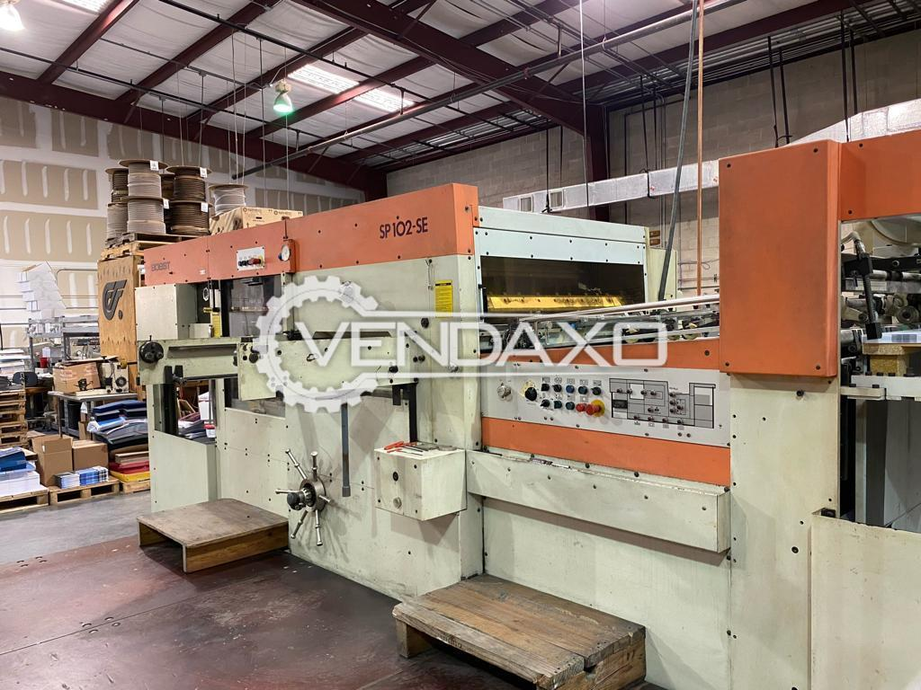BOBST SP102SE Die Cutting Machine - 28 x 40 Inch