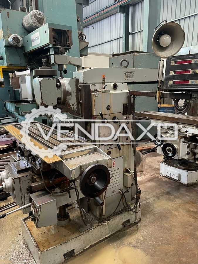 Tiger FU90 Universal & Vertical Milling Machine - Table Size - 1100 x 300 mm