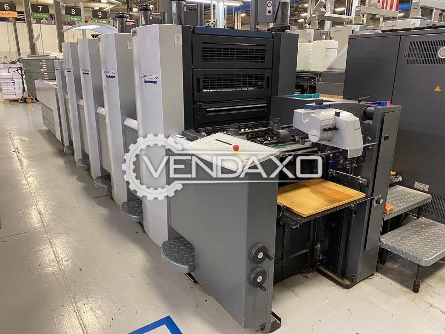 Heidelberg SM 52-4+L Offset Printing Machine - 15 x 20 Inch, 4 Color