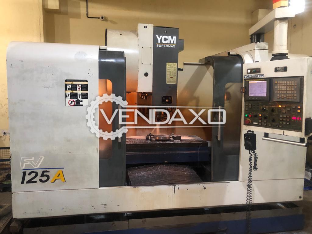 YCM Supermax FV 125A CNC Vertical Machining Center VMC - Table Size - 1350 x 550 mm