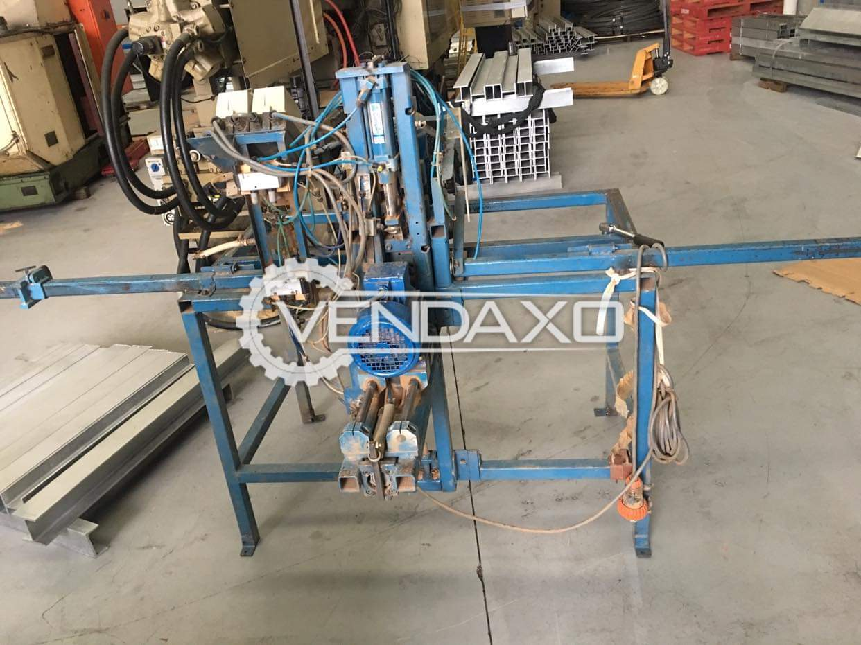 Door Lock Cylinder Drilling Machine With Pneumatic Clamps