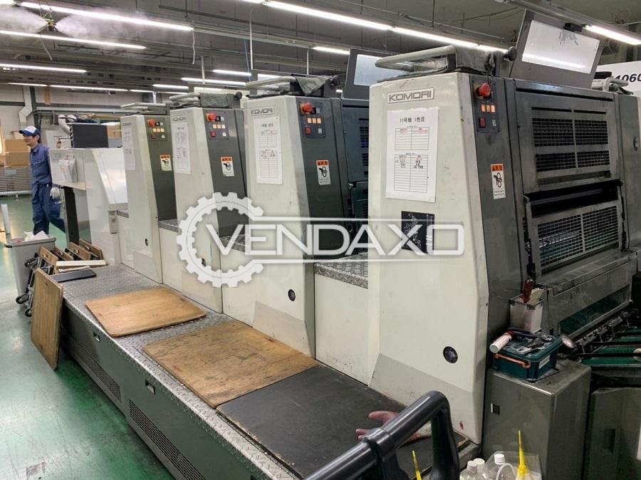 Komori LS426+UV Offset Printing Machine - 20 x 26 Inch, 4 Color