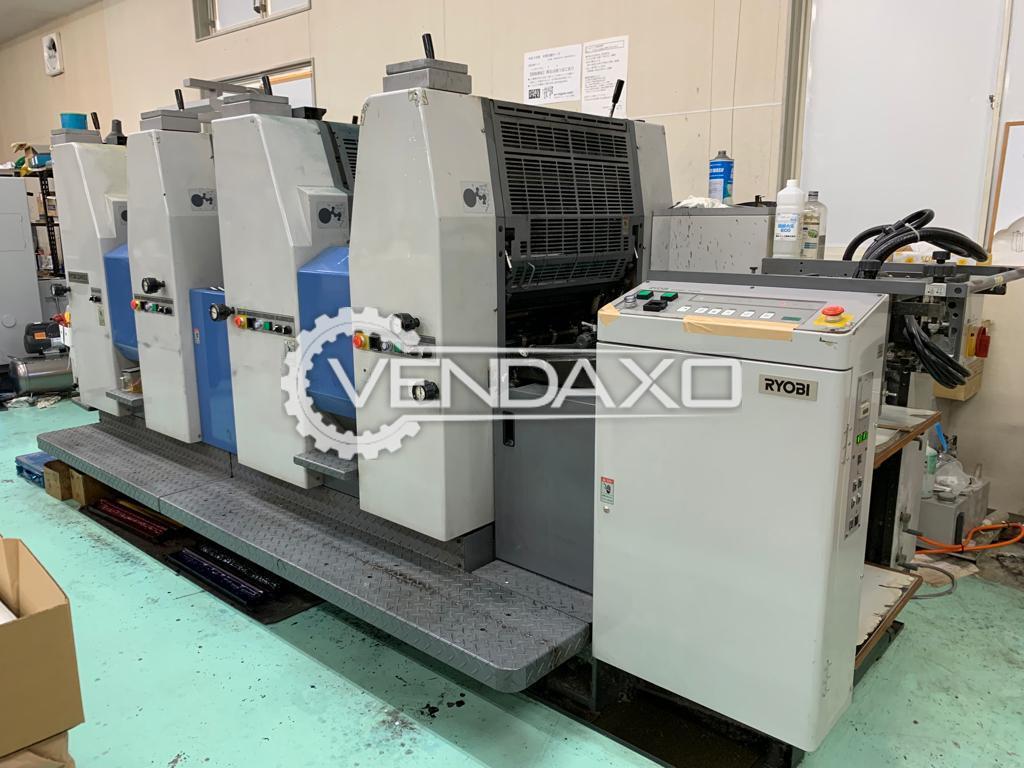 Ryobi 524HXX Offset Printing Machine - 15 x 20 Inch, 4 Color