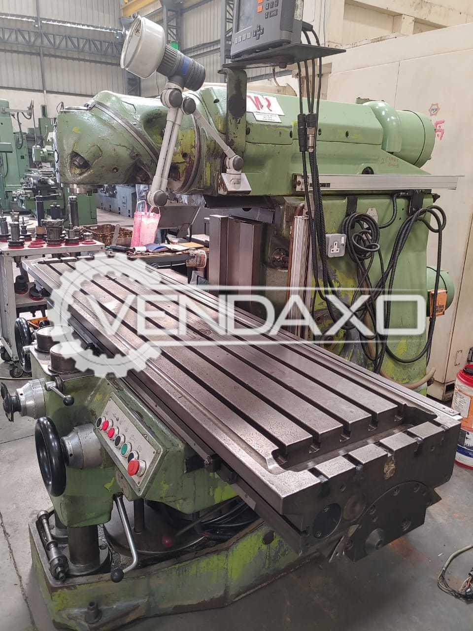 Huron MU6 Milling Machine - Table Size - 2000 x 460 mm