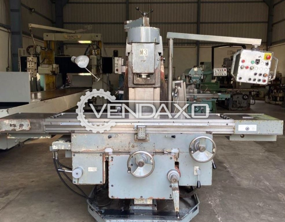 TOS Universal Milling Machine - Table Size - 1600 x 400 mm