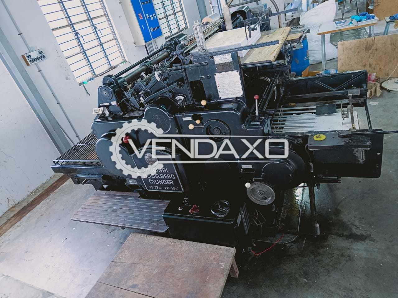Heidelberg Cylinder Die Cutter Machine - 22 X 30 Inch