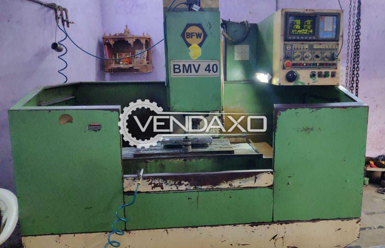 BFW BMV 40 CNC Vertical Machining Center VMC - Table Size - 1000 x 460 mm