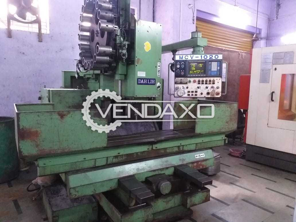 Dahlih MCV-1020 CNC Vertical Machining Center VMC - Bed Size - 1200 x 600 mm