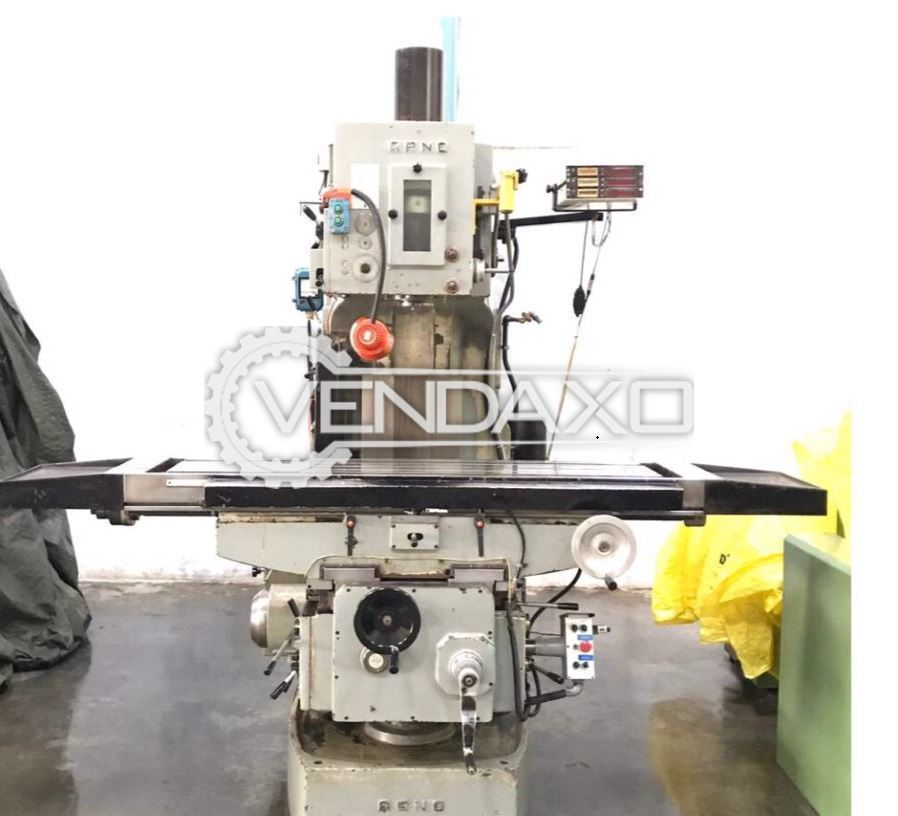 Arno Vertical Milling Machine - Table Size - 1800 x 425 mm