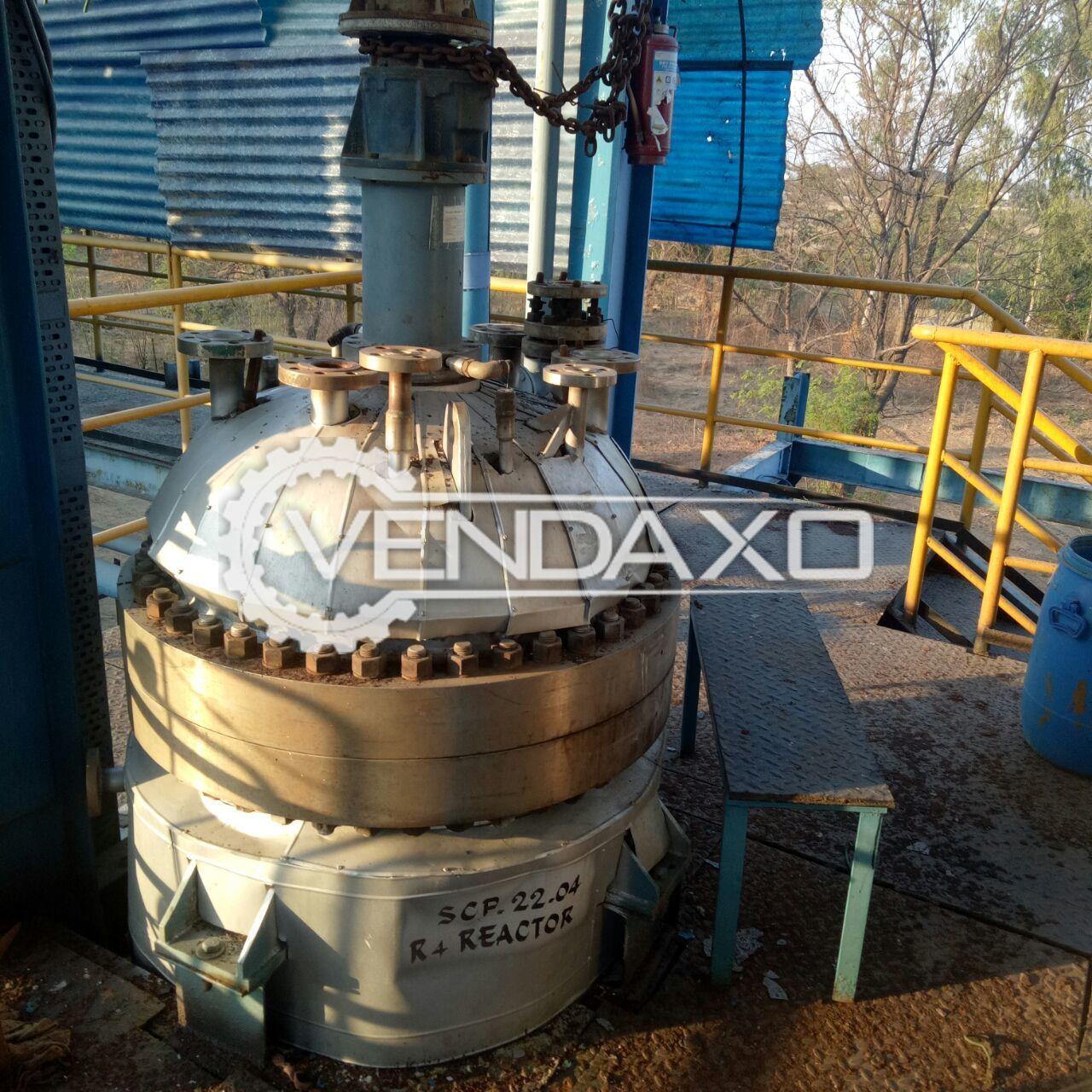 Hastelloy Pressure Reactor - 750 Liter