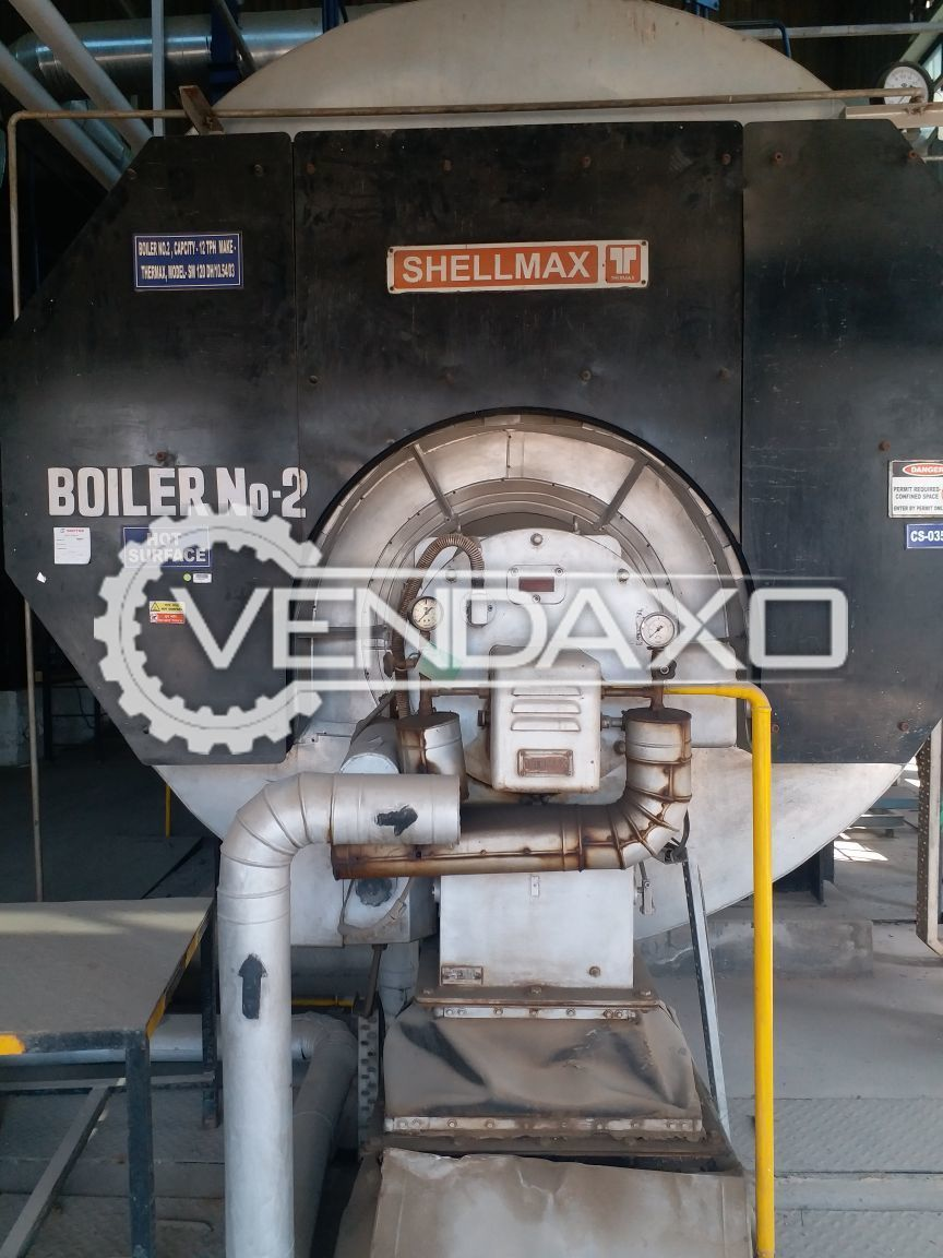 Shellmax SM-120DH 3-Pass Smoke Tube Boiler - 12 TPH