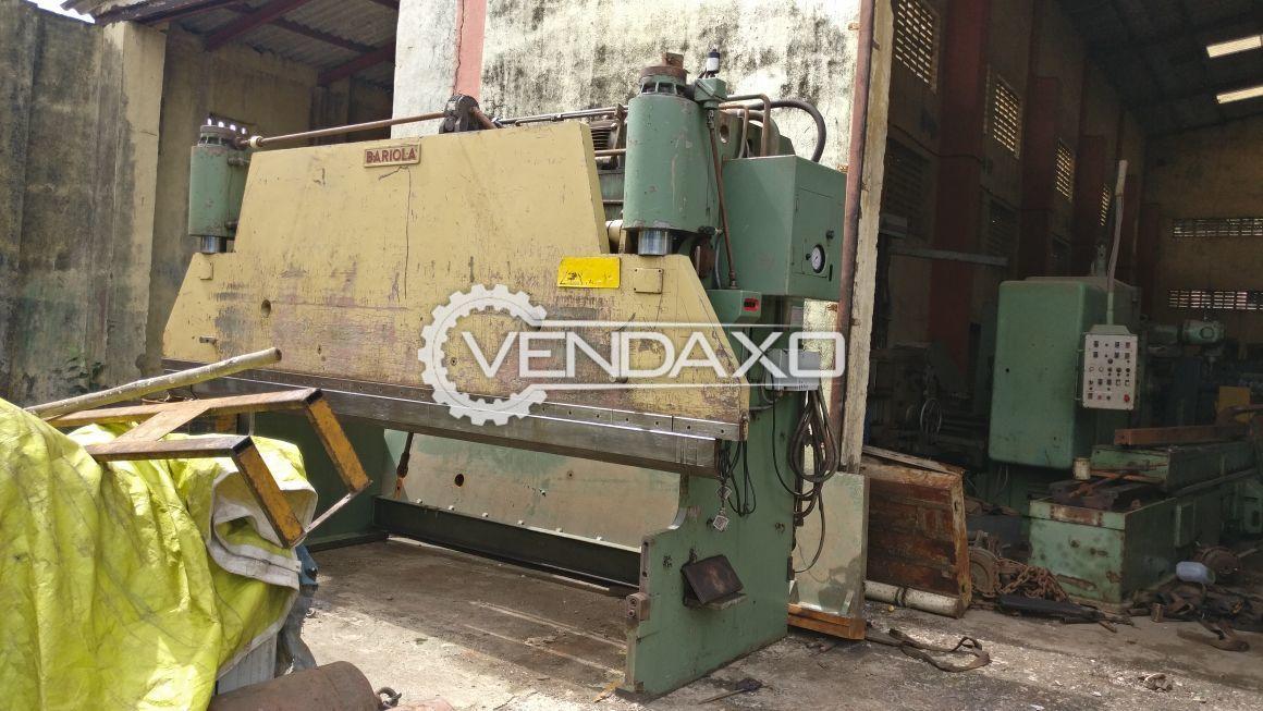 Bariola Press Brake Machine - 120 Ton