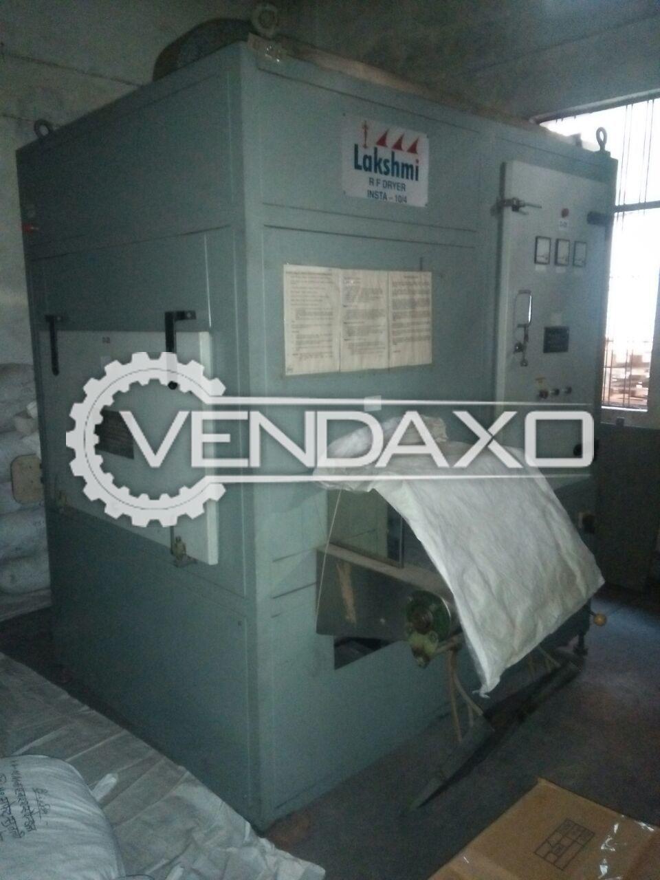Lakshmi Insta 10/4 Radio Frequency Dryer Machine - 12 KG/HR