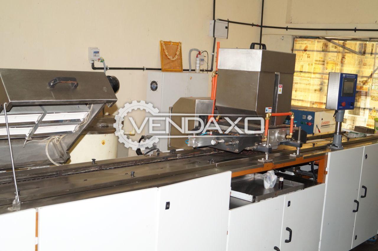 Varsha chocolate molding machine   1 ton per day