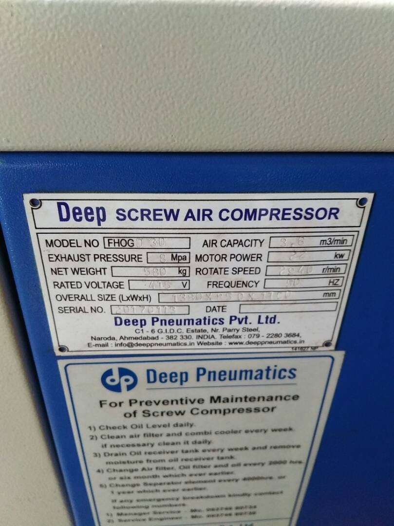 Screw Compressor - 30 HP