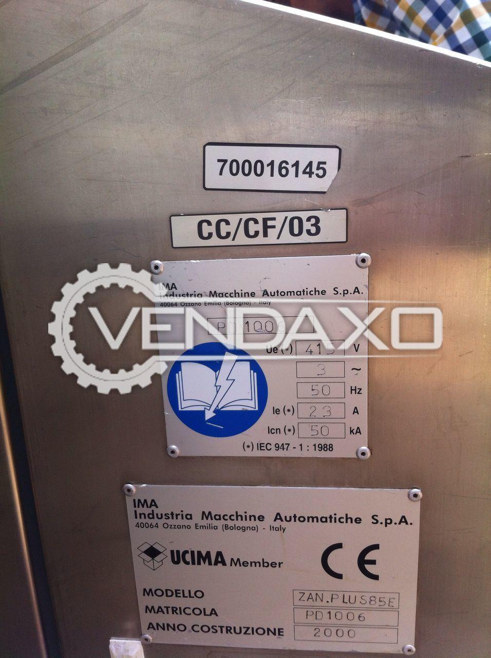 IMA Zanasi Plus 85E Capsule Filing Machine