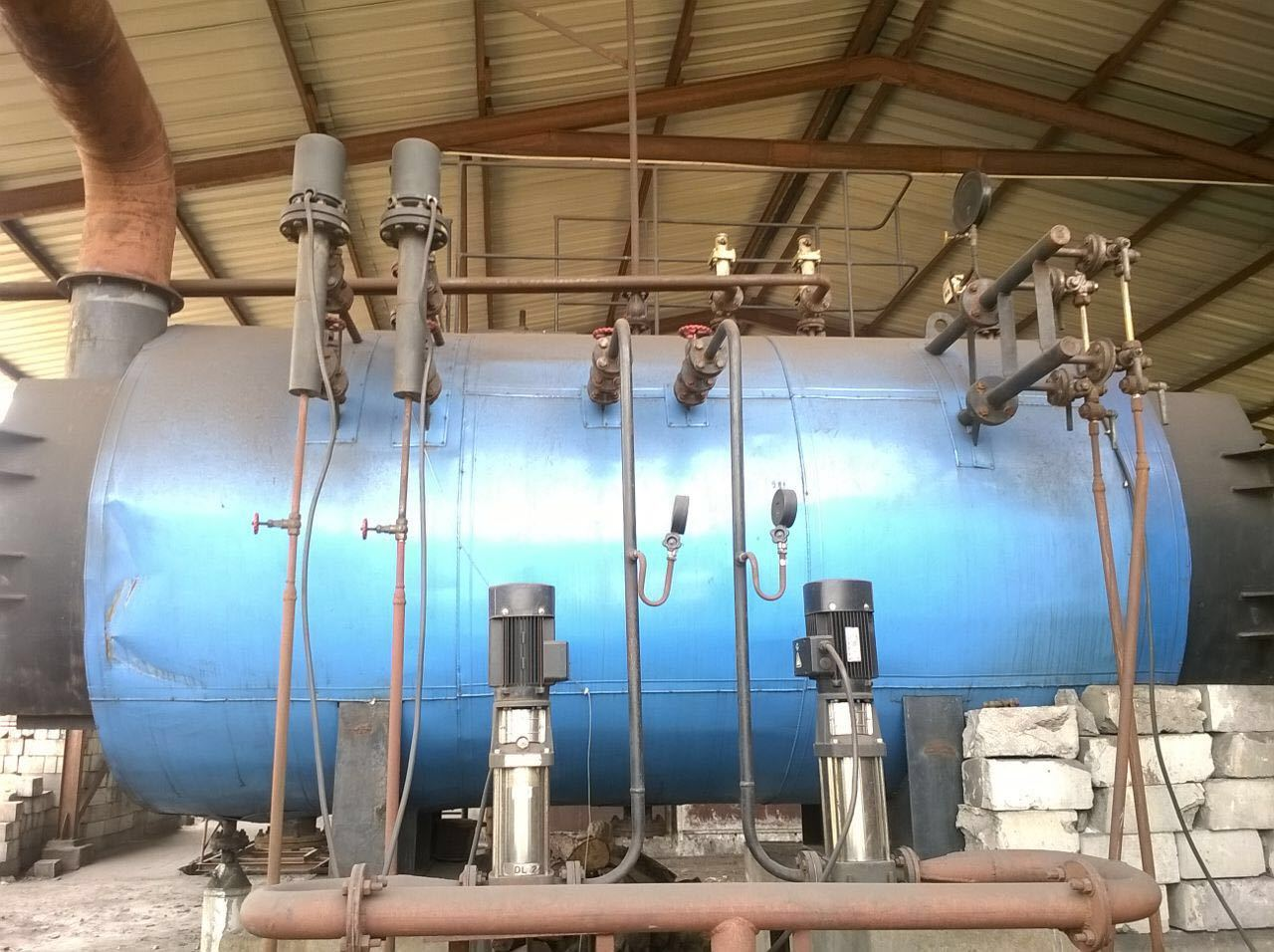Used Steam Boiler - 1 Ton | Second Hand Solid Fuel Fired Steam ...