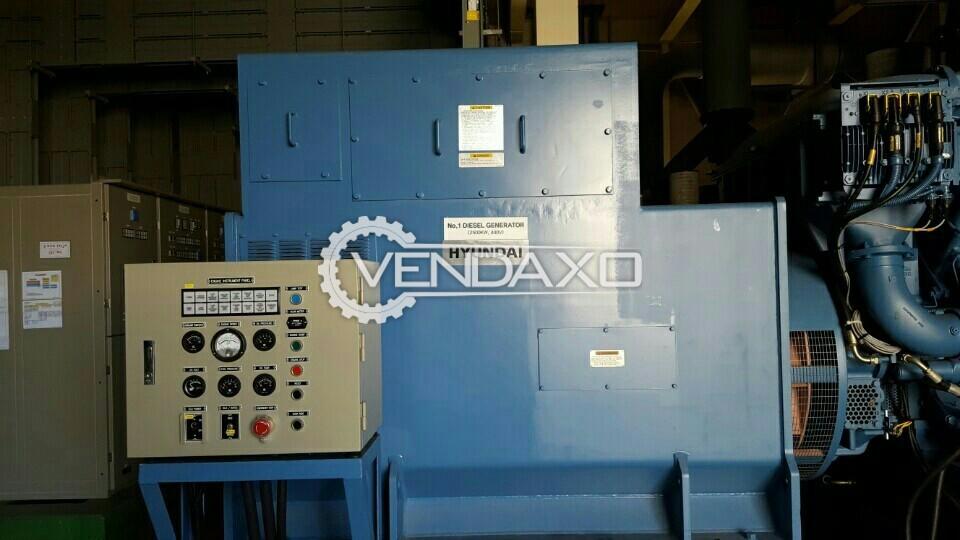 Hyundai Diesel Generator Set - 2500 KW
