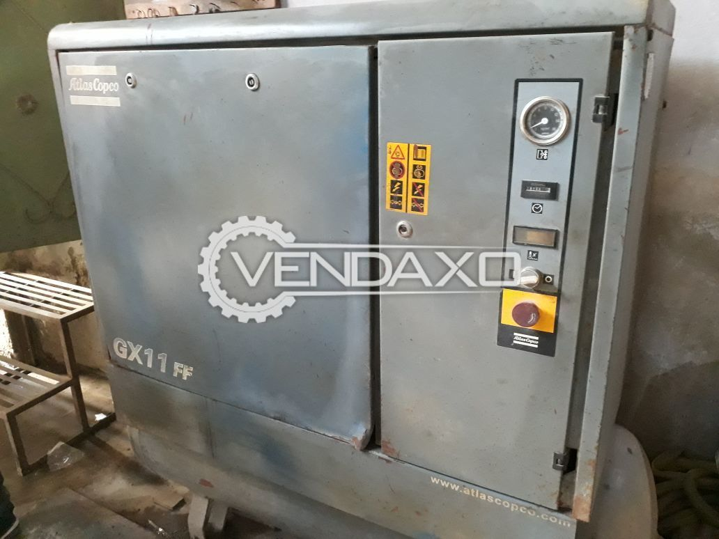 Atlas Copco GX11FF Air Compressor - 15 HP