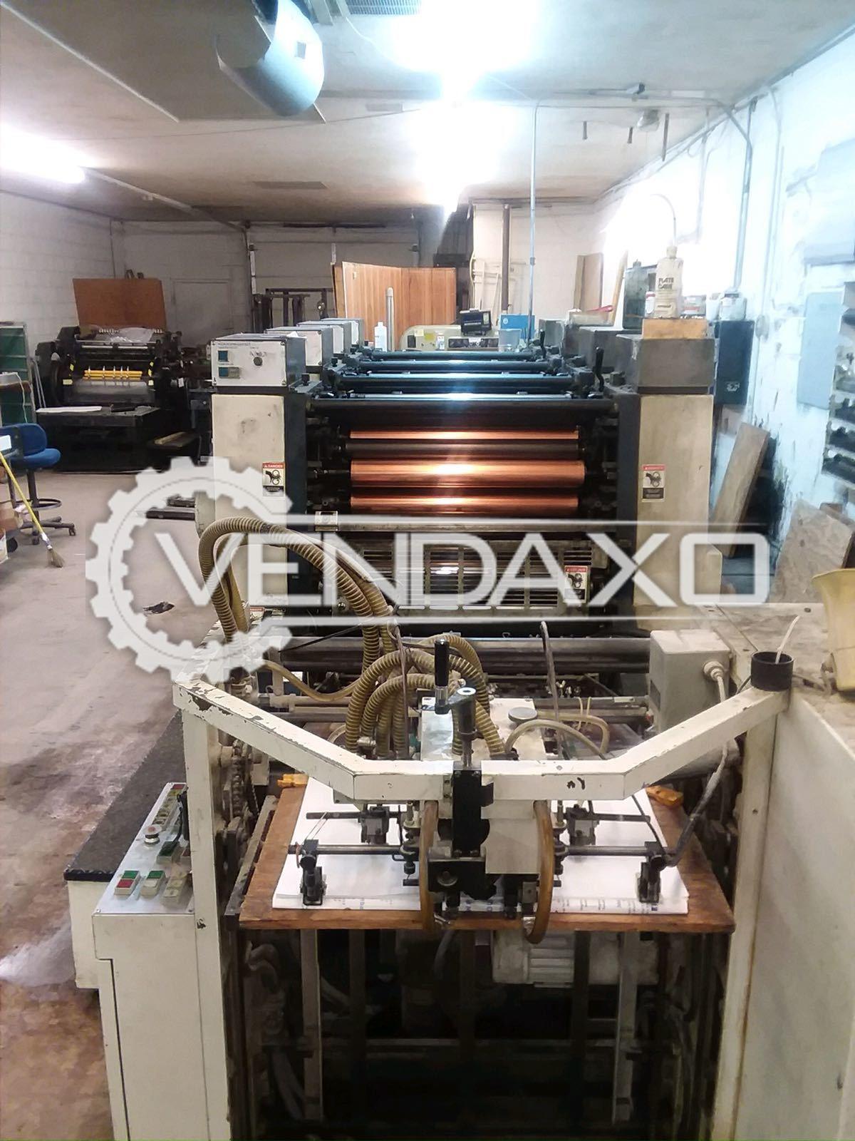 "Komori Lithrone-426 Offset Printing Machine - 4 Color, 20"" X 26"""