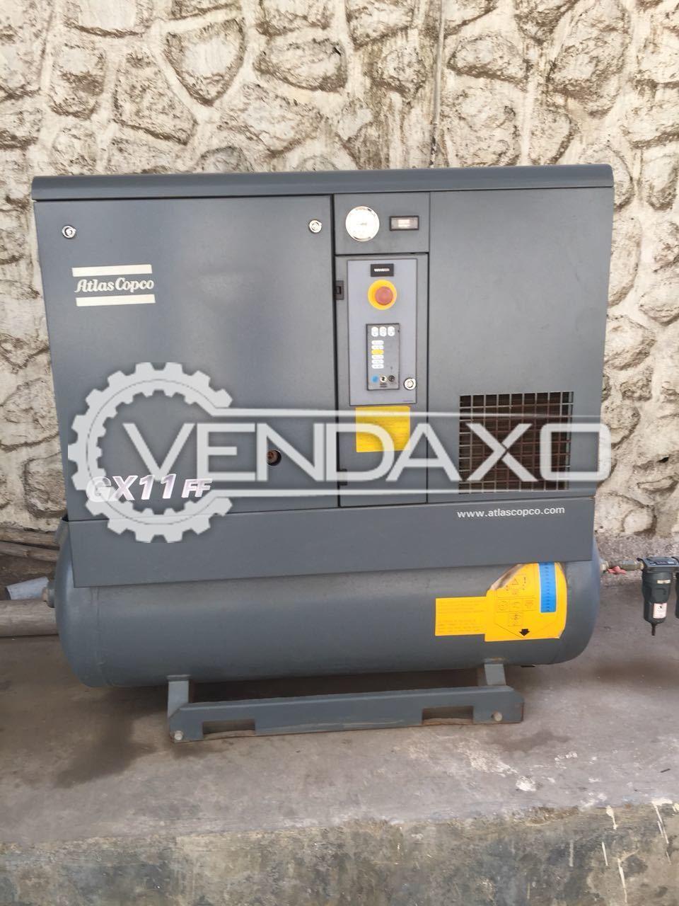 Atlas Copco GX11FF Air Compressor - 15 HP