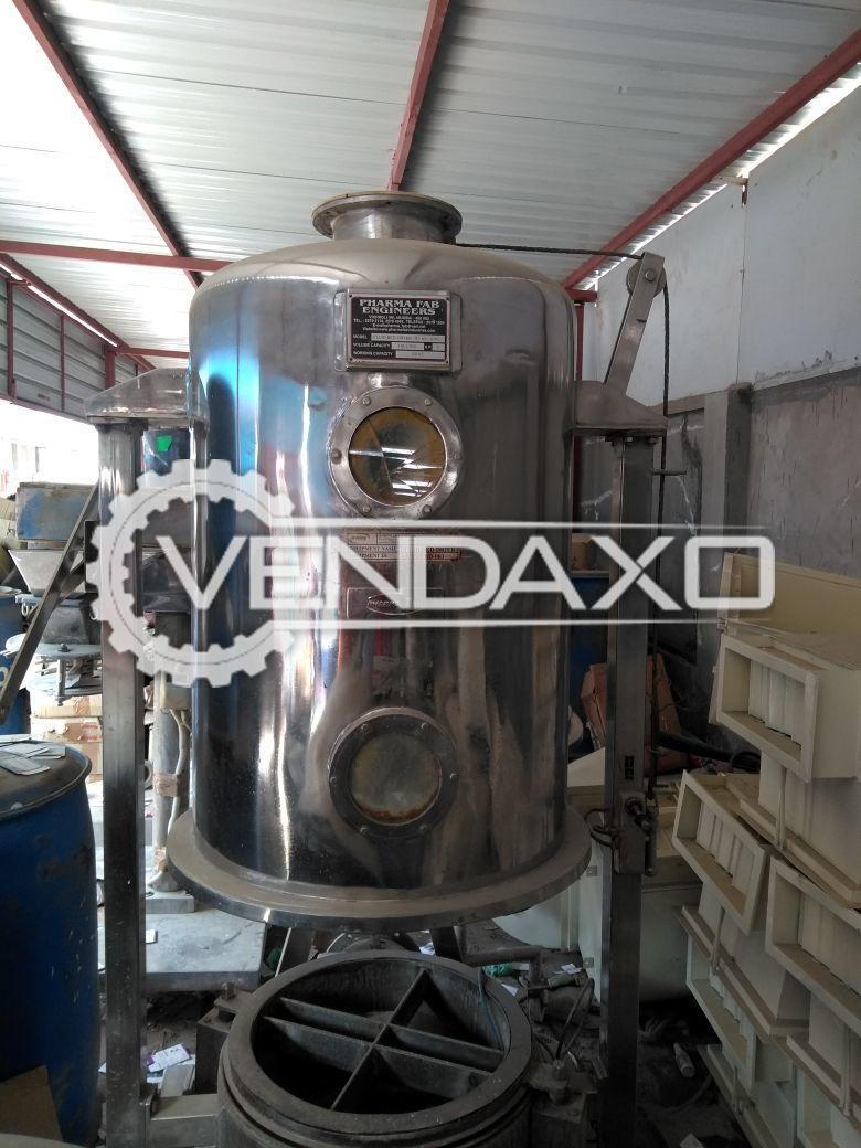 Pharma Fab Fluid Bed Dryer (FBD) - 30 KG
