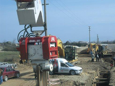 Used vibro hammer OVR 80S excavator mounted