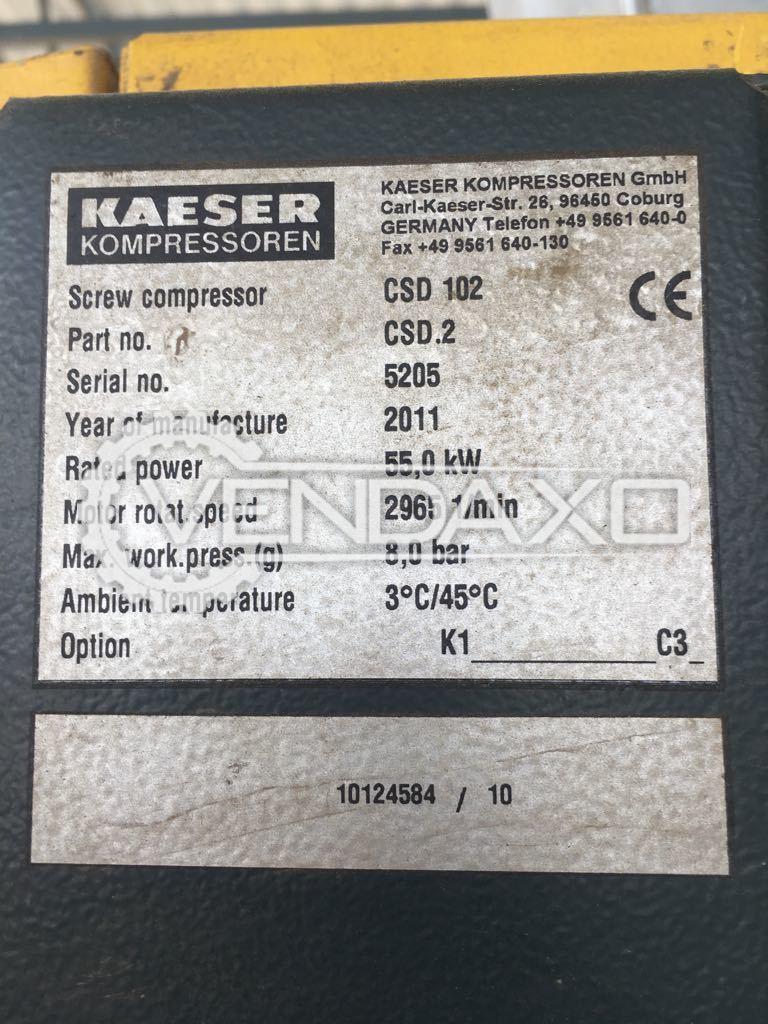 Kaiser CSD 102 air compressor- 55kW