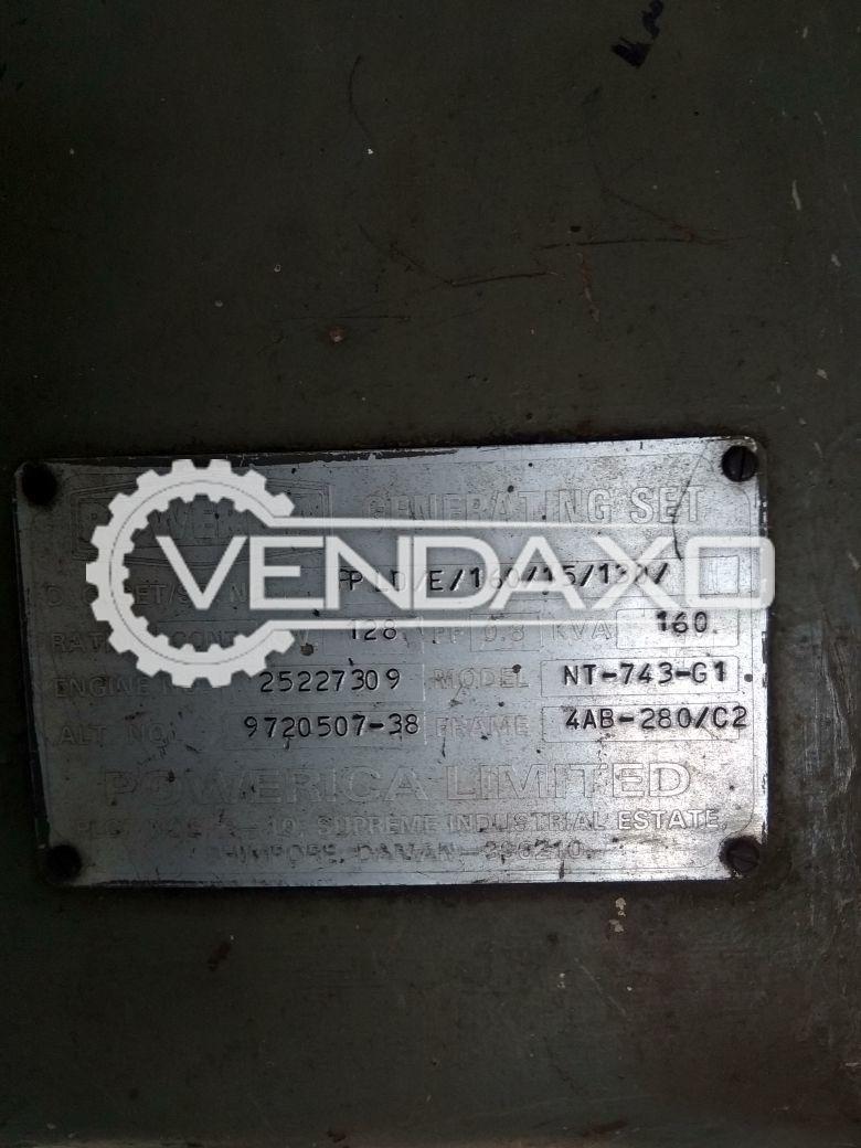 Powerica 160 kVA Diesel Generator