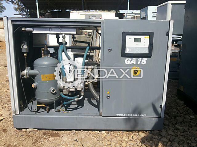 Used Atlas Copco GA 15 20 hp air compressor